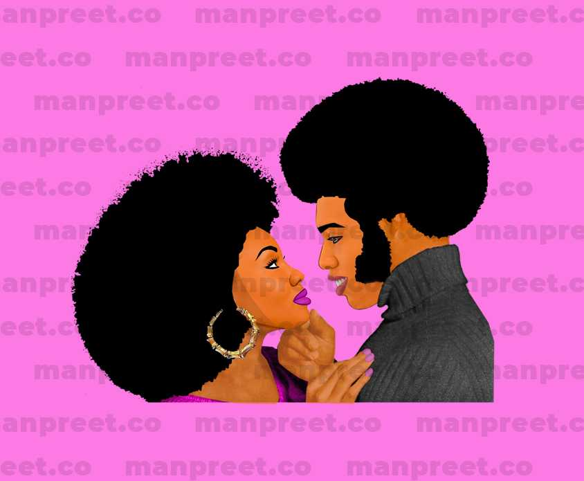Afro Beautiful Couples Character Design