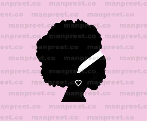 African American Woman Silhouette