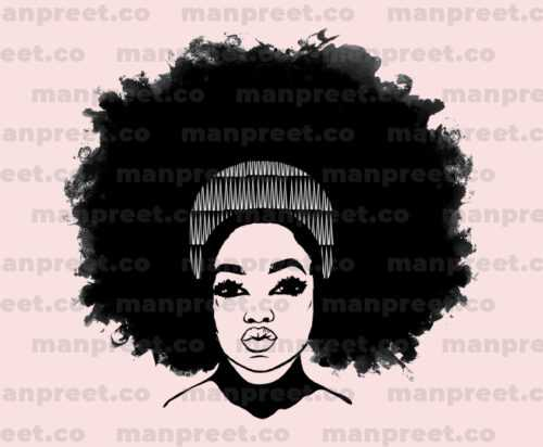 Afro Black and White Girl